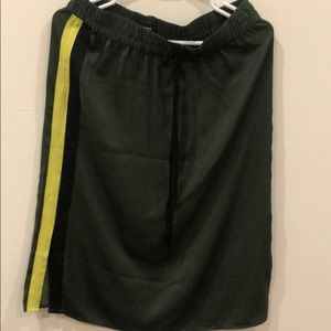 Midi sports stripe skirt